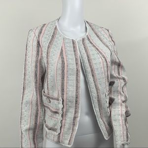 Laundry By Shelli Segal Striped Tweed Jacket